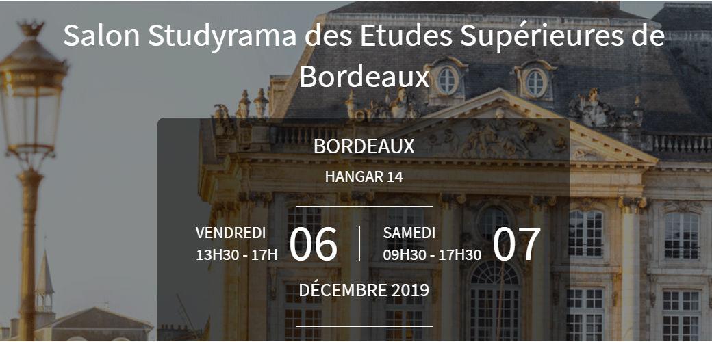 Salon Studyrama des Etudes Supérieures de Bordeaux - KEDGE